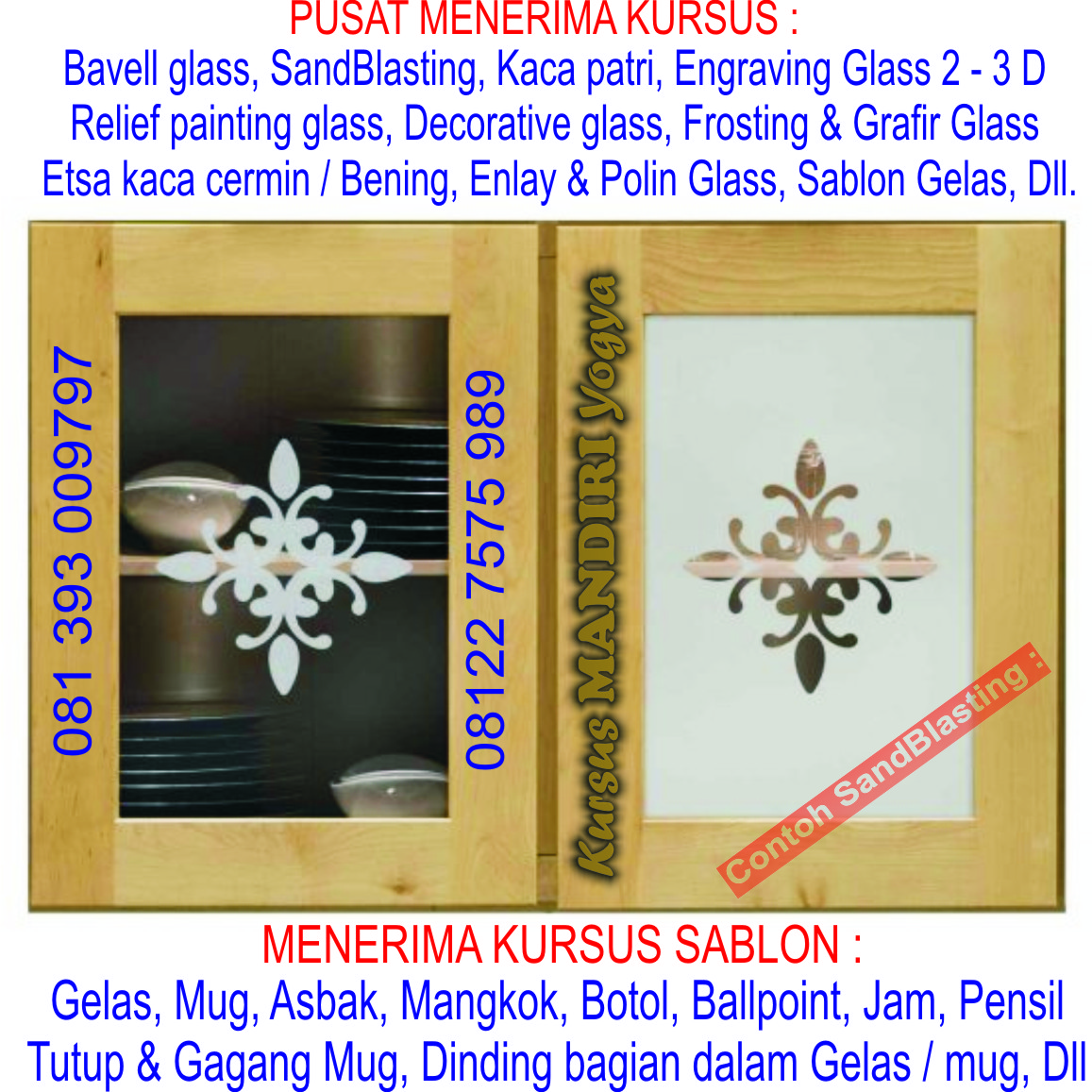 Frosted Glass Fiberglass Emboss Sandblasting Etsa Bevell: Kami Spesial Website PUSAT KURSUS : Cetak Offset, Jilid